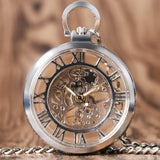 Open Face Mechanical Pocket Watch | TEETERNAL - 6
