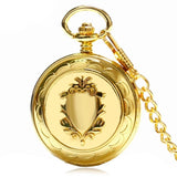 Golden Train Mechanical Pocket Watch | TEETERNAL - 7