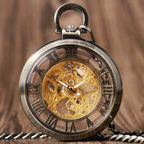 Open Face Mechanical Pocket Watch | TEETERNAL - 2