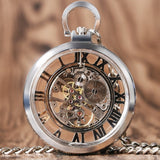 Open Face Mechanical Pocket Watch | TEETERNAL - 7