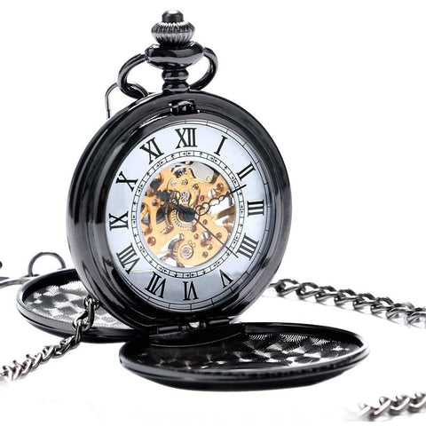 Roman Style Mechanical Pocket Watch | TEETERNAL - 1