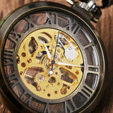Open Face Mechanical Pocket Watch | TEETERNAL - 3