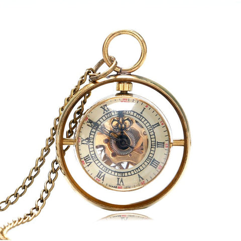 Special Whirling Mechanical Pocket Watch