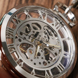Open Face Mechanical Pocket Watch | TEETERNAL - 8