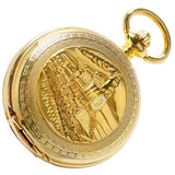 Golden Train Mechanical Pocket Watch | TEETERNAL - 6