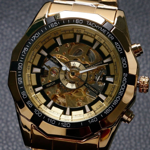 Antique Golden Mechanical Watch - TEETERNAL - 1