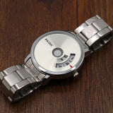 Turnable Dial Steel Band Watch - Teeternal - 12