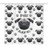 Pug Life Shower Curtain - Teeternal - 2