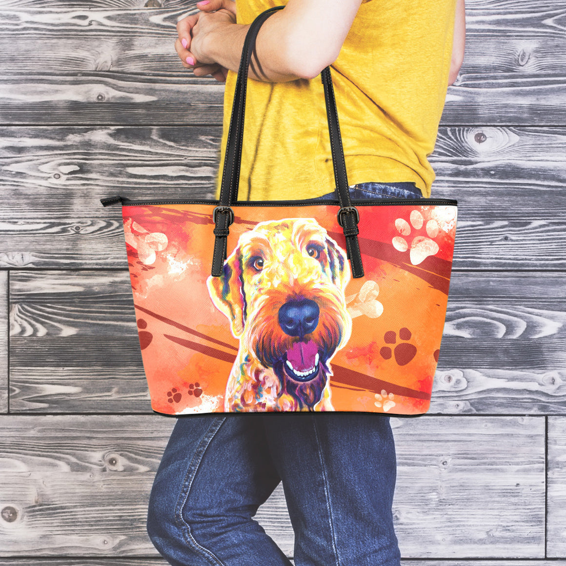 Airedoodle Leather Totes (Large)