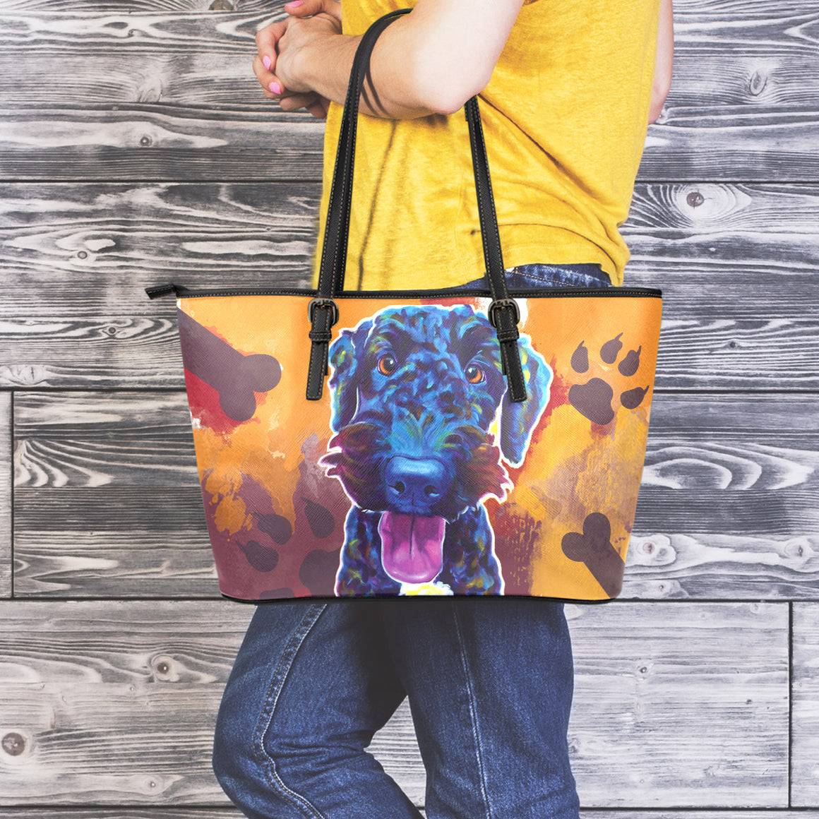 Airedoodle II Leather Totes (Large)