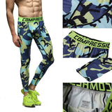 Men's Compression Workout Pants (Blue Camo) - TEETERNAL - 2