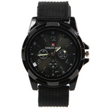 Military Style Canvas Belt Luminous Quartz Watch - Teeternal - 2