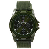 Military Style Canvas Belt Luminous Quartz Watch - Teeternal - 4