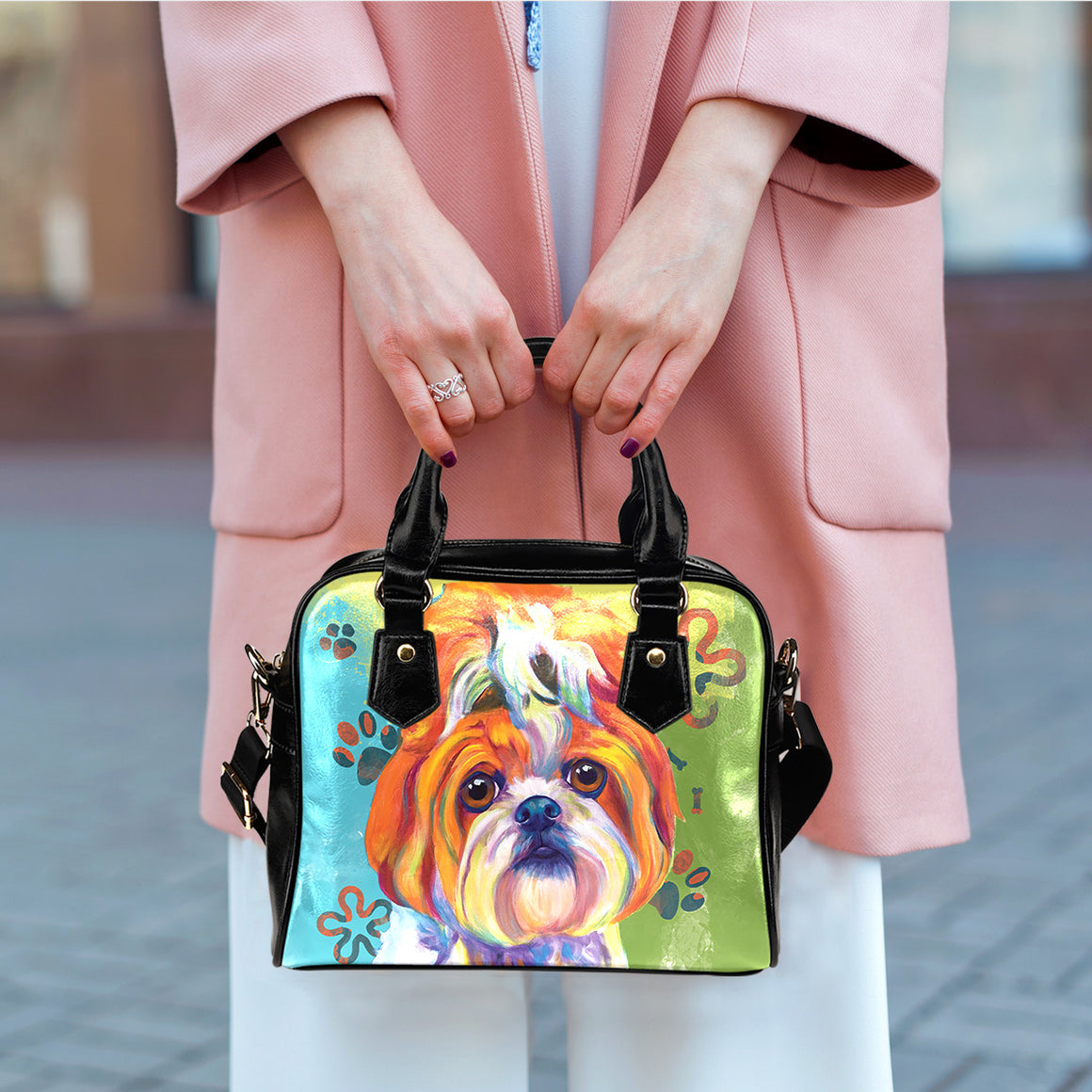 Shih Tzu Shoulder Handbags
