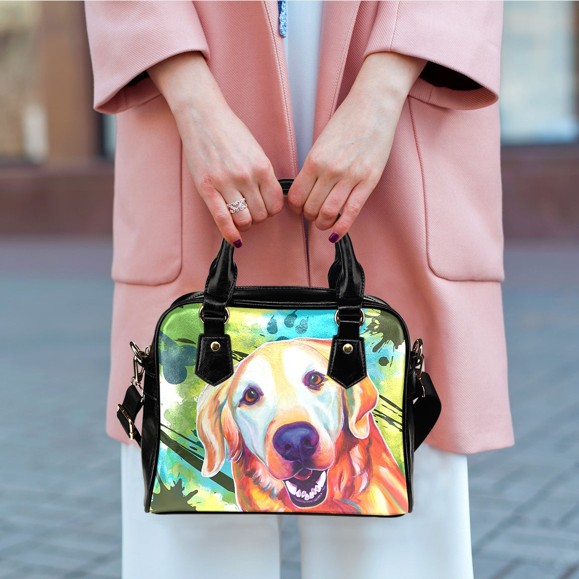 Golden Retriever Shoulder Handbags
