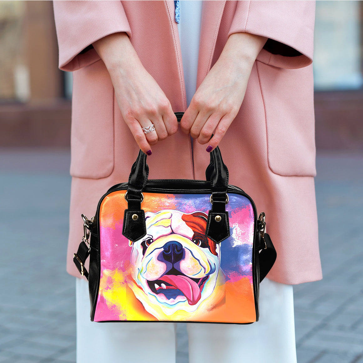 Bulldog Shoulder Handbags