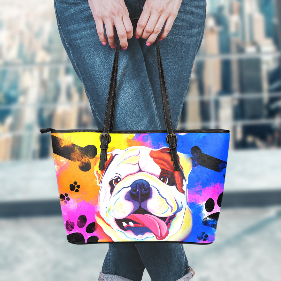 Bulldog Leather Totes (Small)
