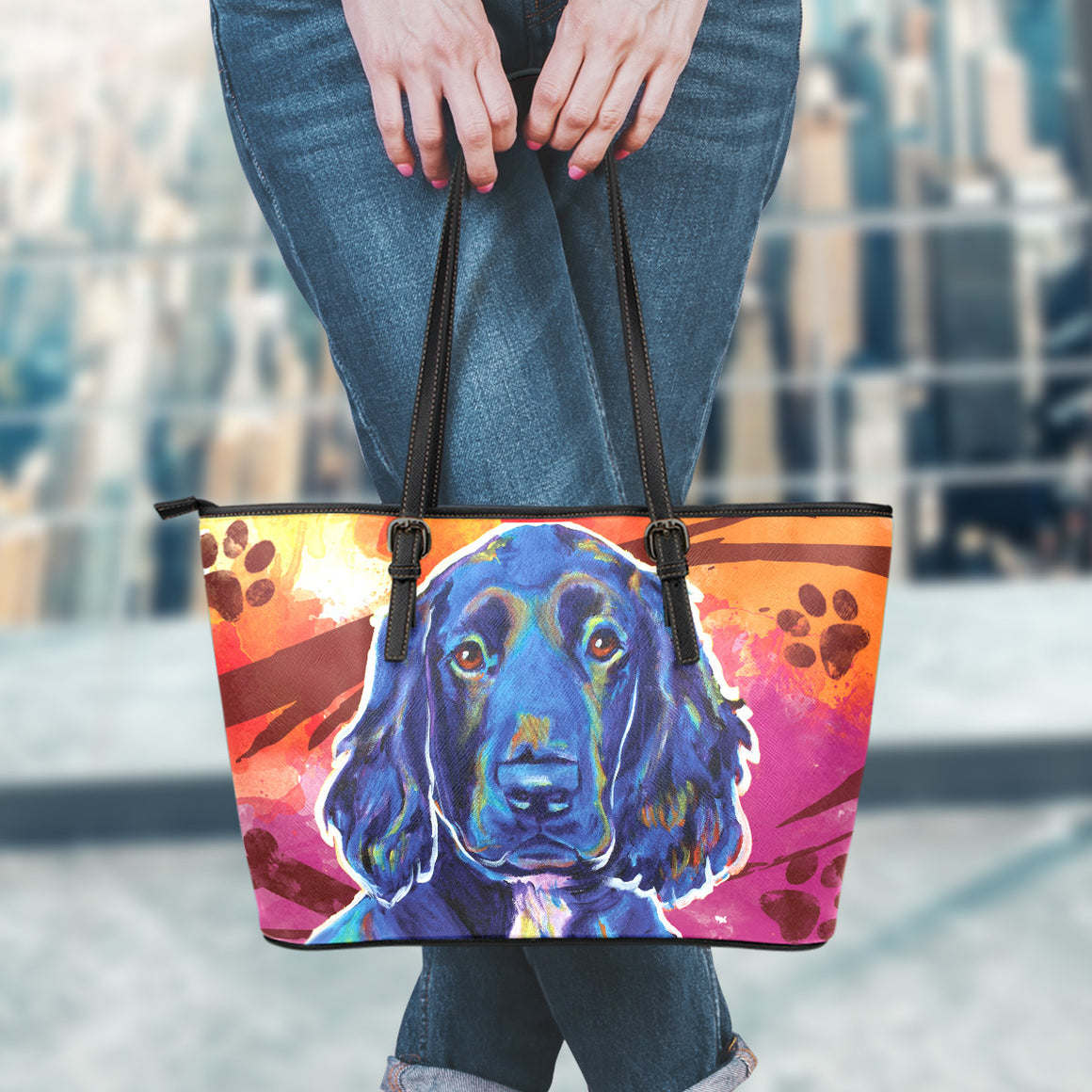 Cocker Spaniel Leather Totes (Small)