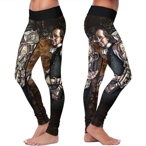 Steampunk Franklin Abstract Leggings