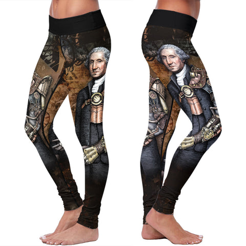 Steampunk Washington Abstract Leggings