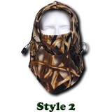 Camo Thermal Fleece Face Mask - Teeternal - 4