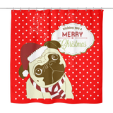 XMAS Pug Shower Curtain - Teeternal - 1
