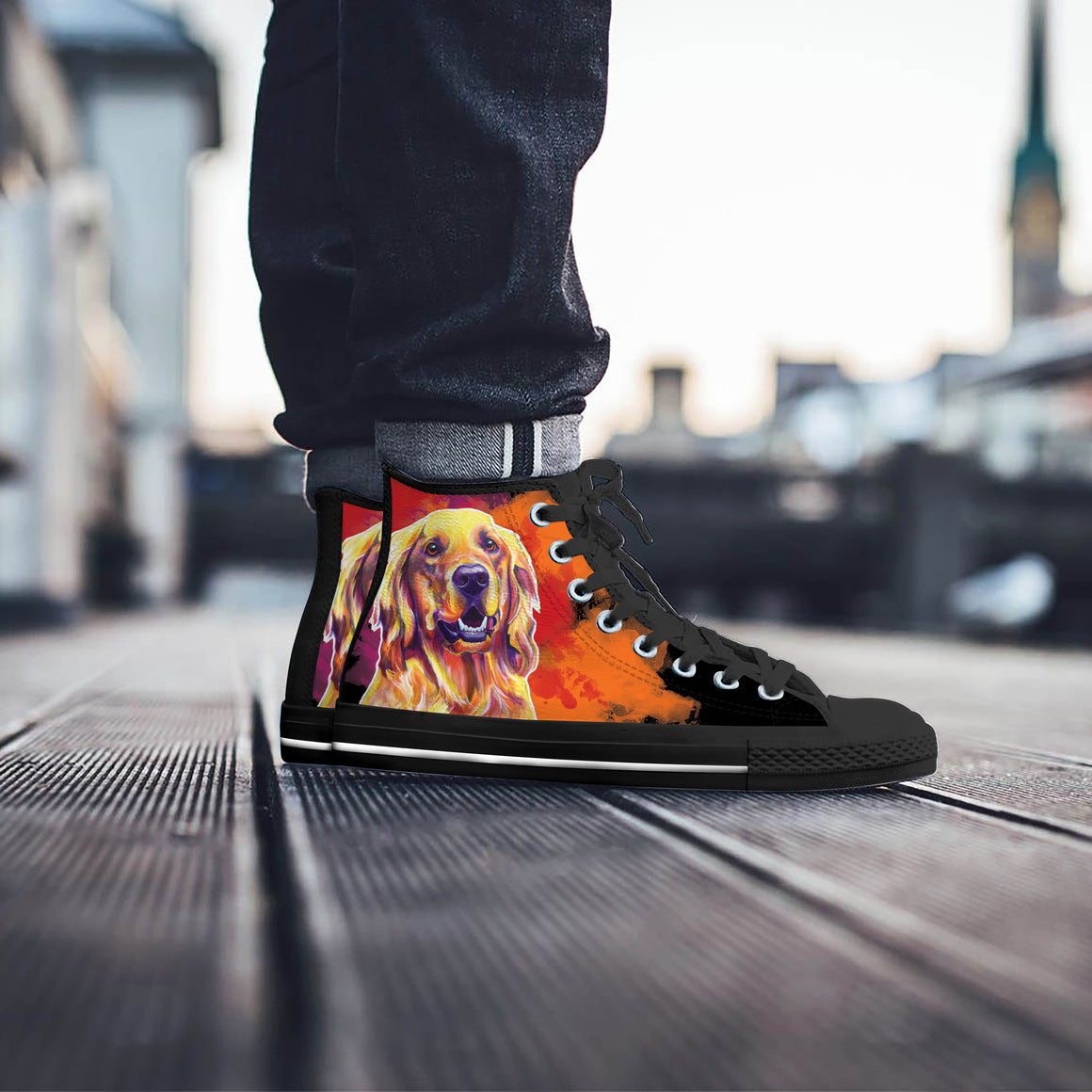 Golden Retriever II High Tops (Black)