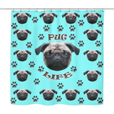 Pug Life Shower Curtain - Teeternal - 3