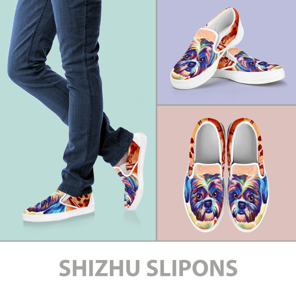 Shih Tzu II Slip-On Shoes