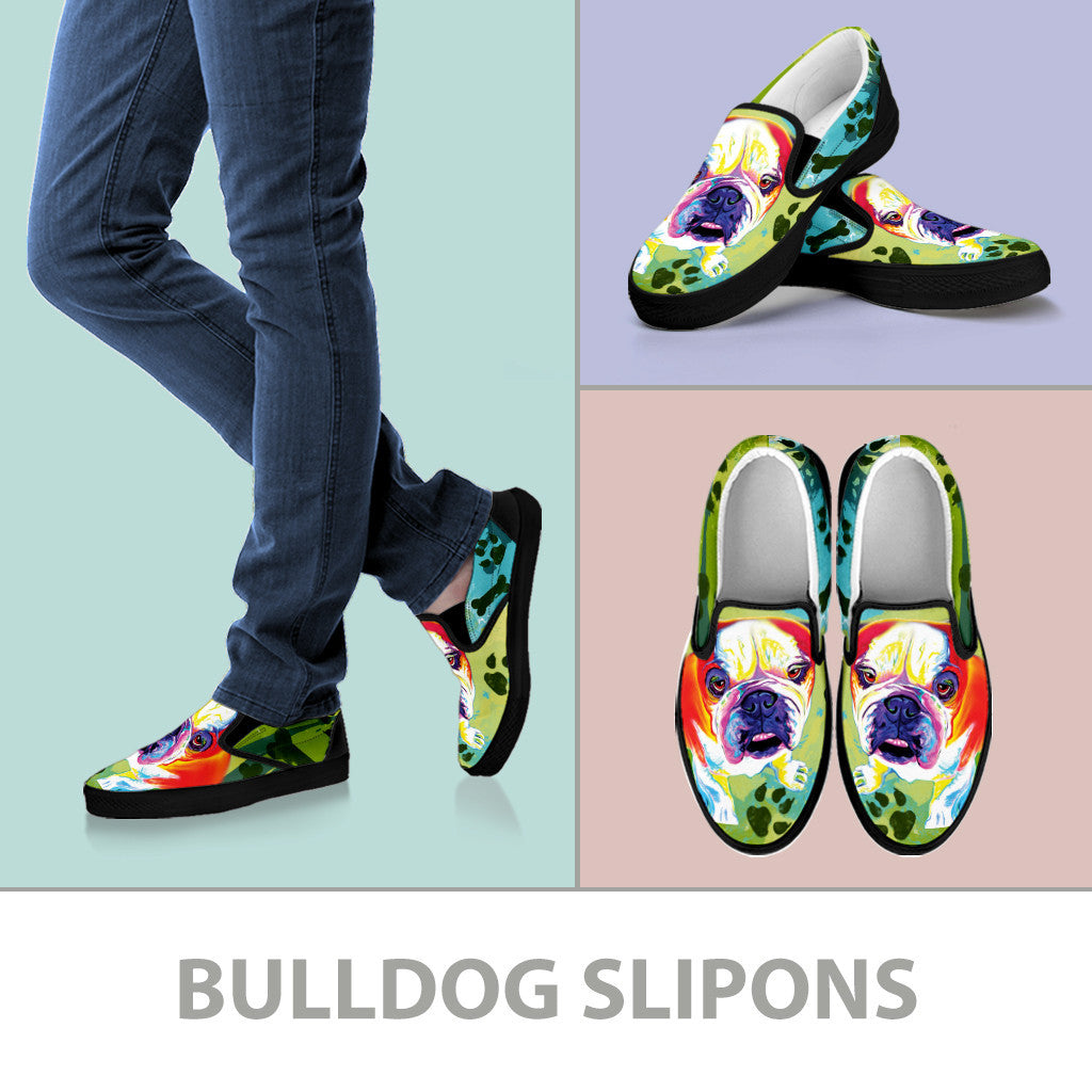 Bulldog II Slip-On Shoes (Black)