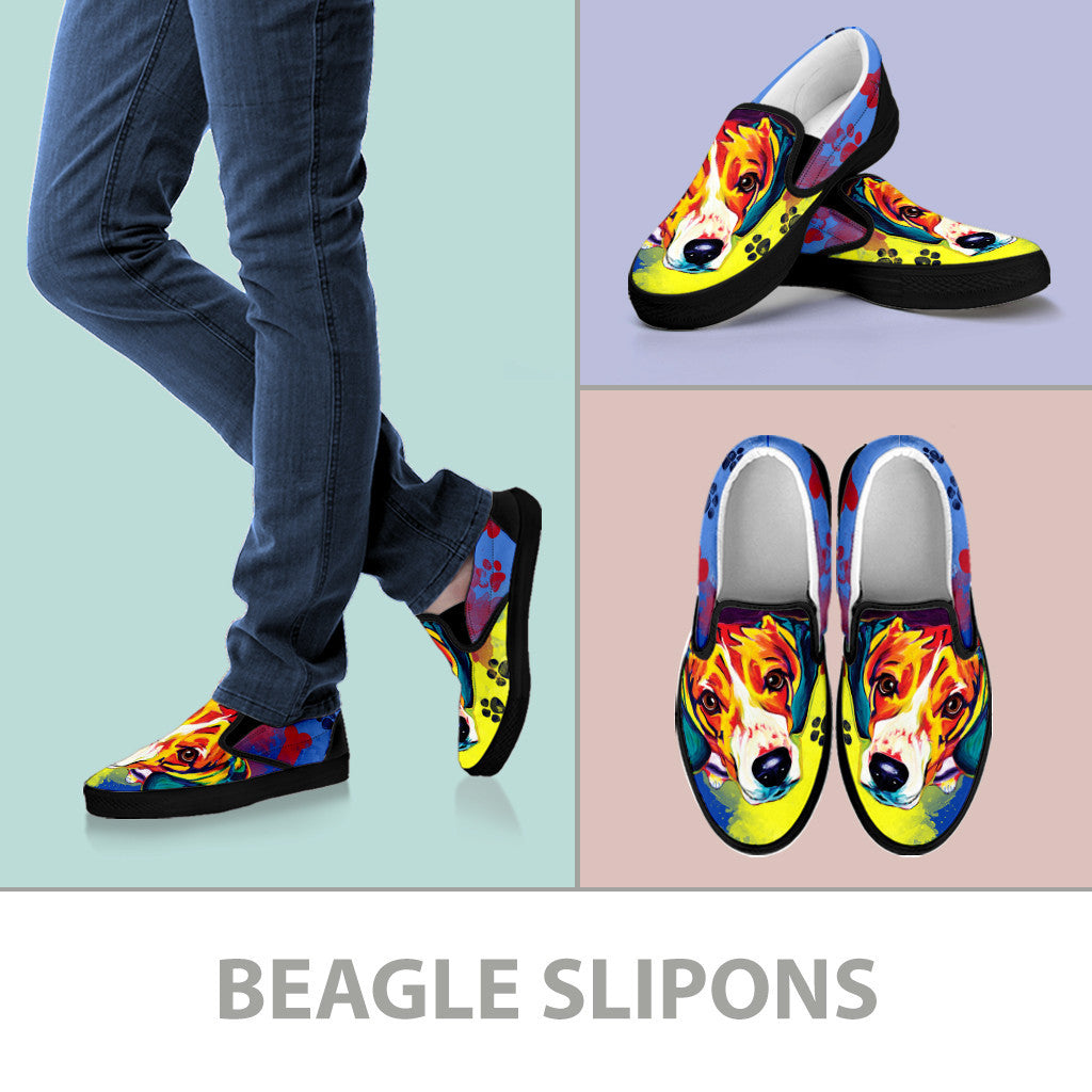 Beagle Slip-On Shoes (Black)
