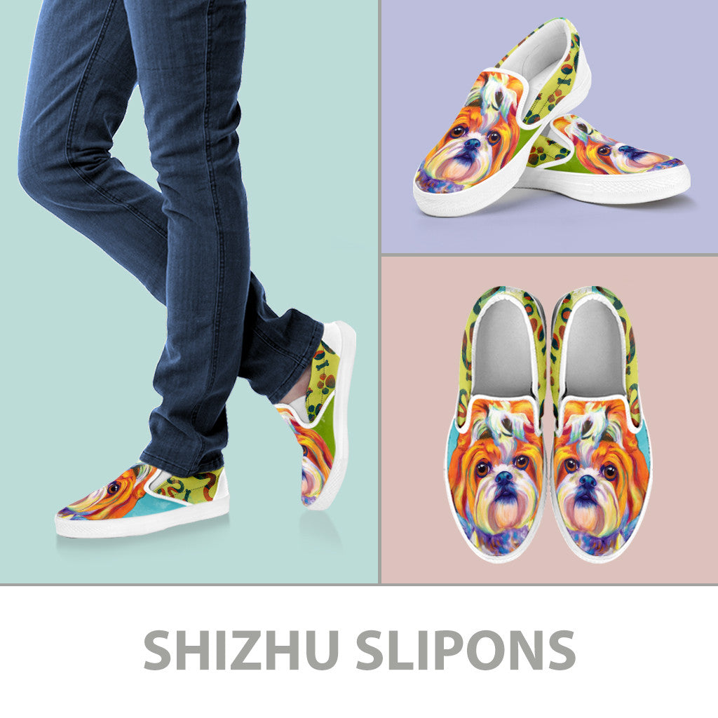 Shih Tzu Slip-On Shoes