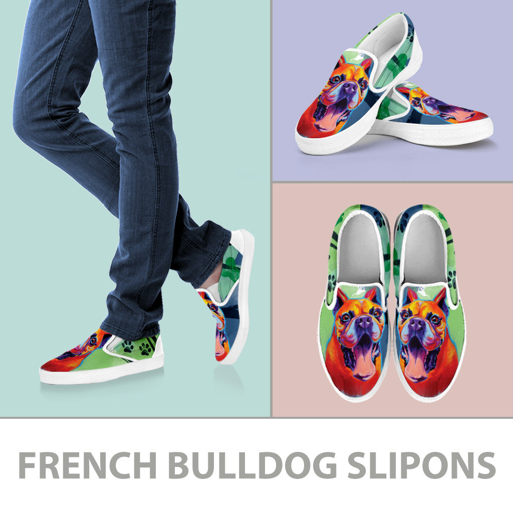 French Bulldog II Slip-On Shoes