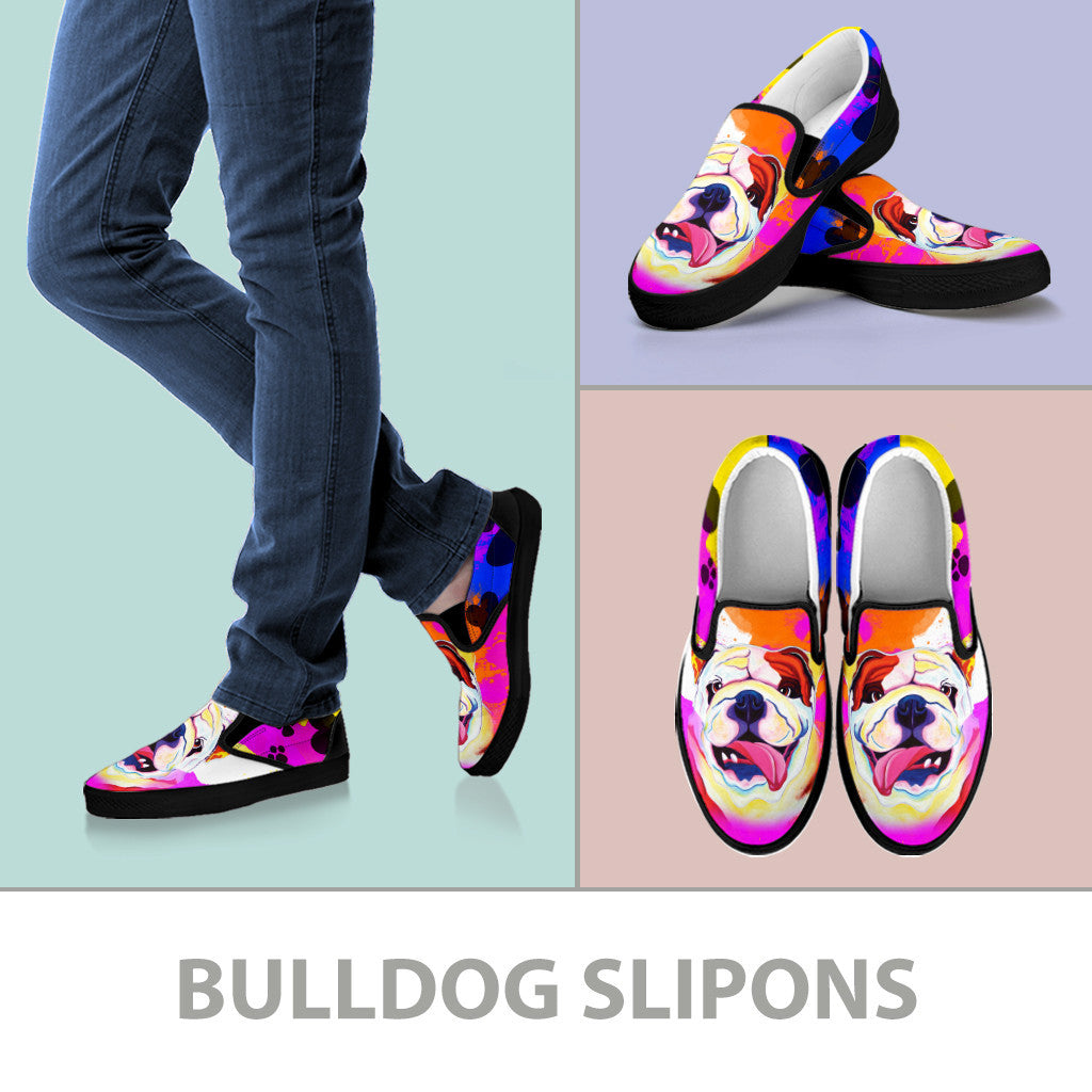 Bulldog Slip-On Shoes (Black)