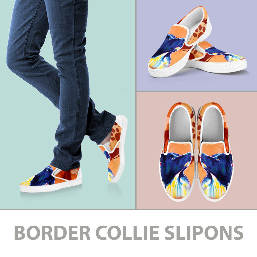 Border Collie Slip-On Shoes