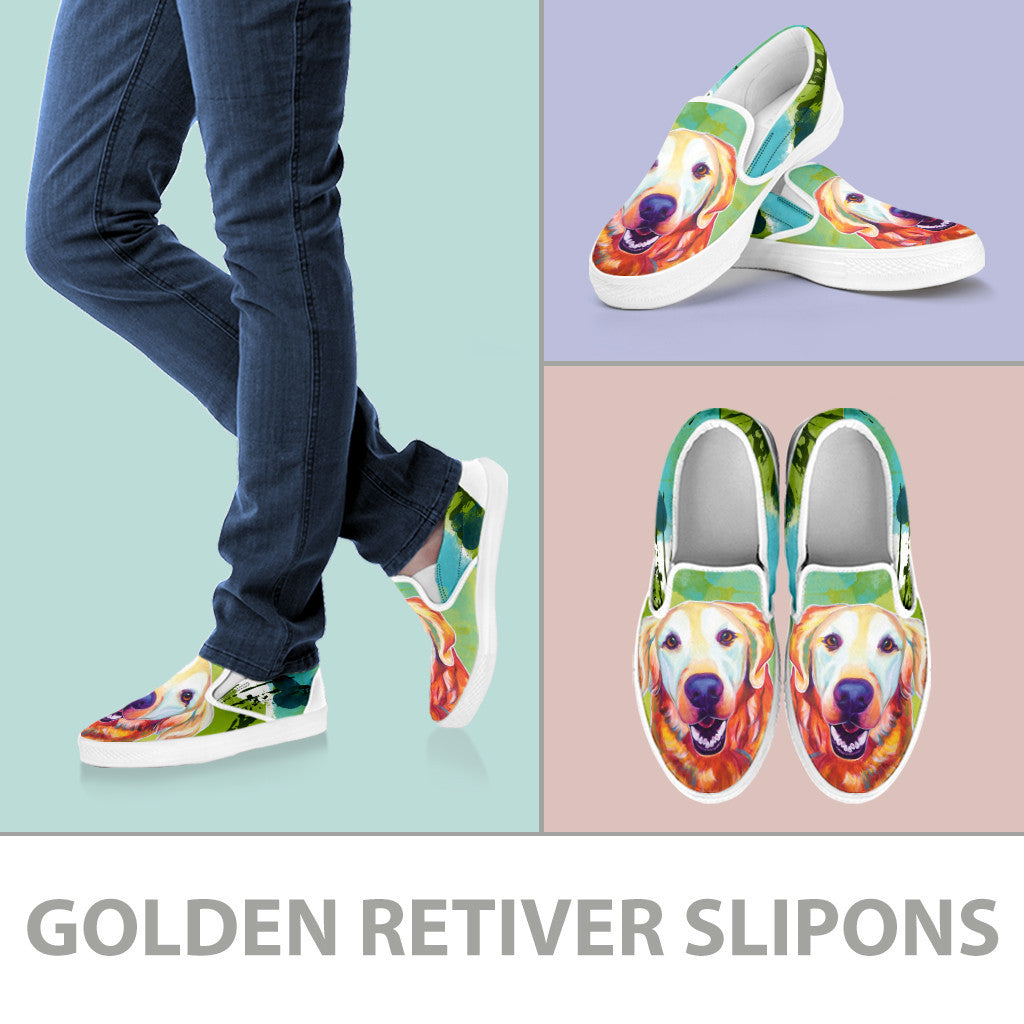 Golden Retriever Slip-On Shoes