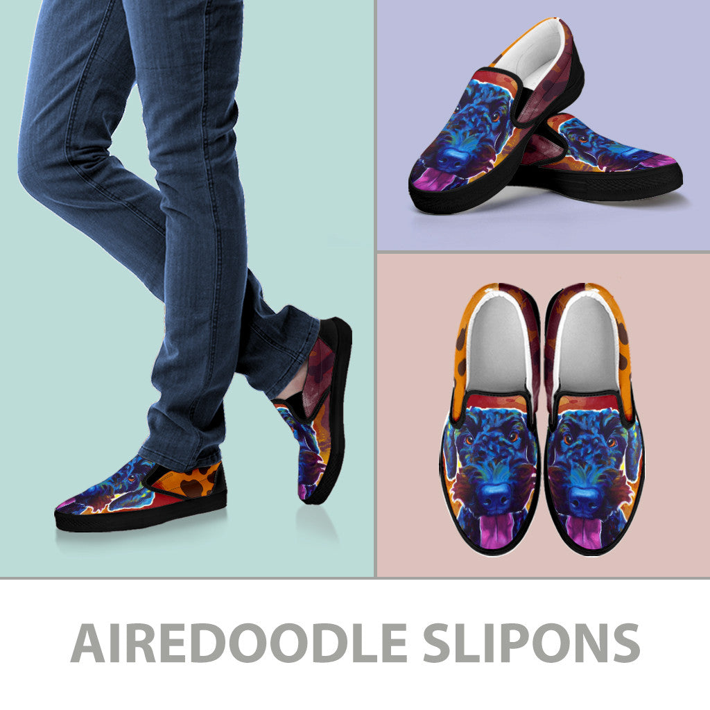 Airedoodle II Slip-On Shoes (Black)