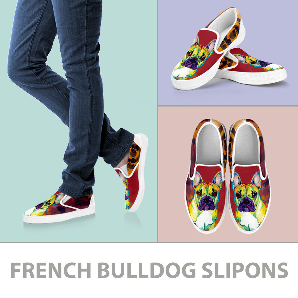 French Bulldog Slip-On Shoes