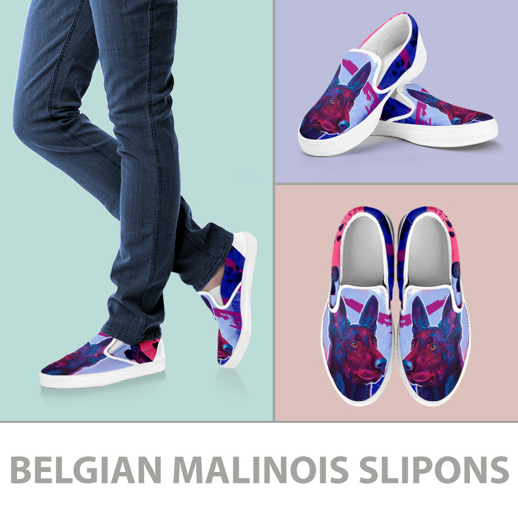 Belgian Malinois Slip-On Shoes