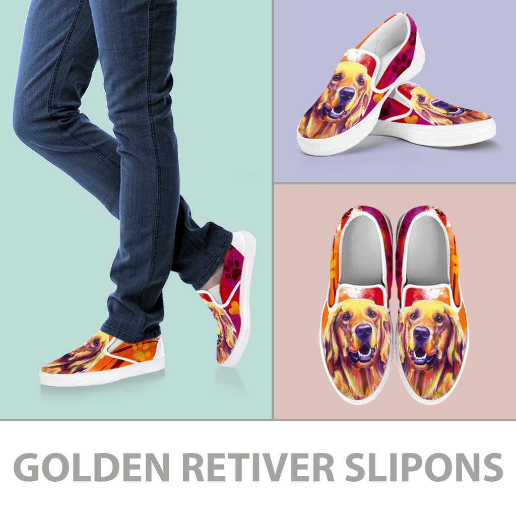 Golden Retriever II Slip-On Shoes
