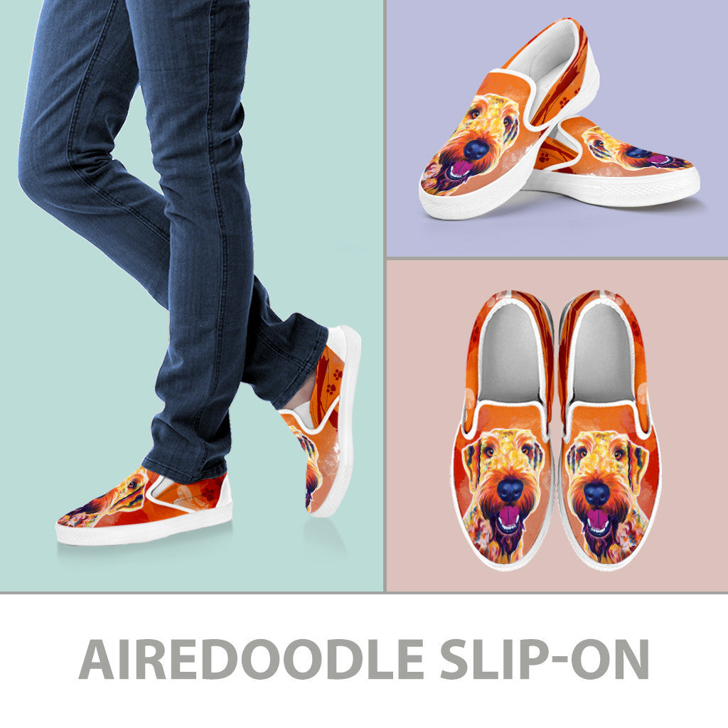 Airedoodle Slip-On Shoes
