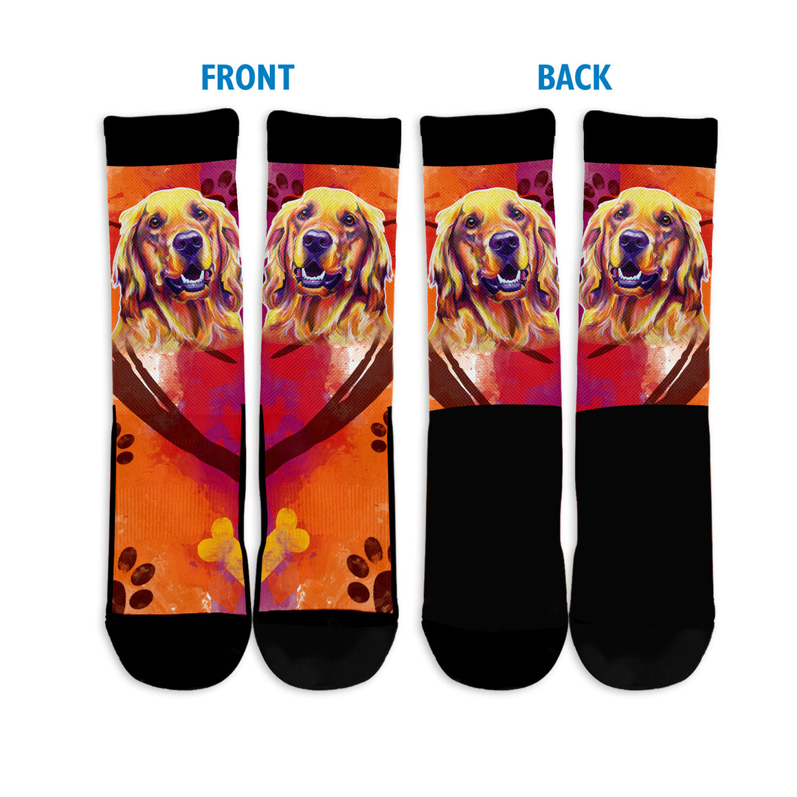 Golden Retriever II Crew Socks