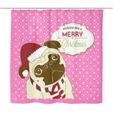 XMAS Pug Shower Curtain - Teeternal - 3