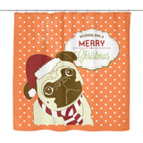 XMAS Pug Shower Curtain - Teeternal - 4