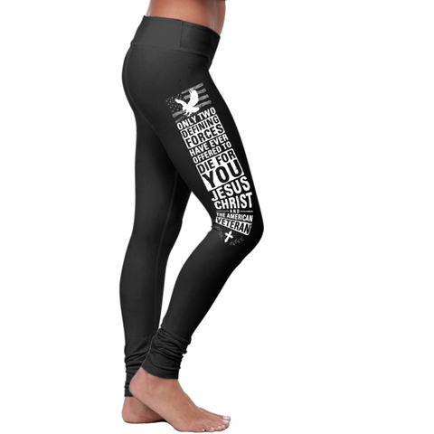Christian Die For You Veteran Leggings