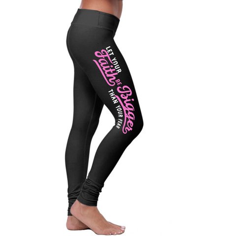Christian Faith Bigger Than Fear Leggings