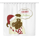 XMAS Pug Shower Curtain - Teeternal - 2