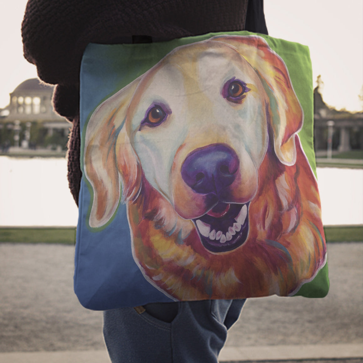 Golden Retriever Linen Totes