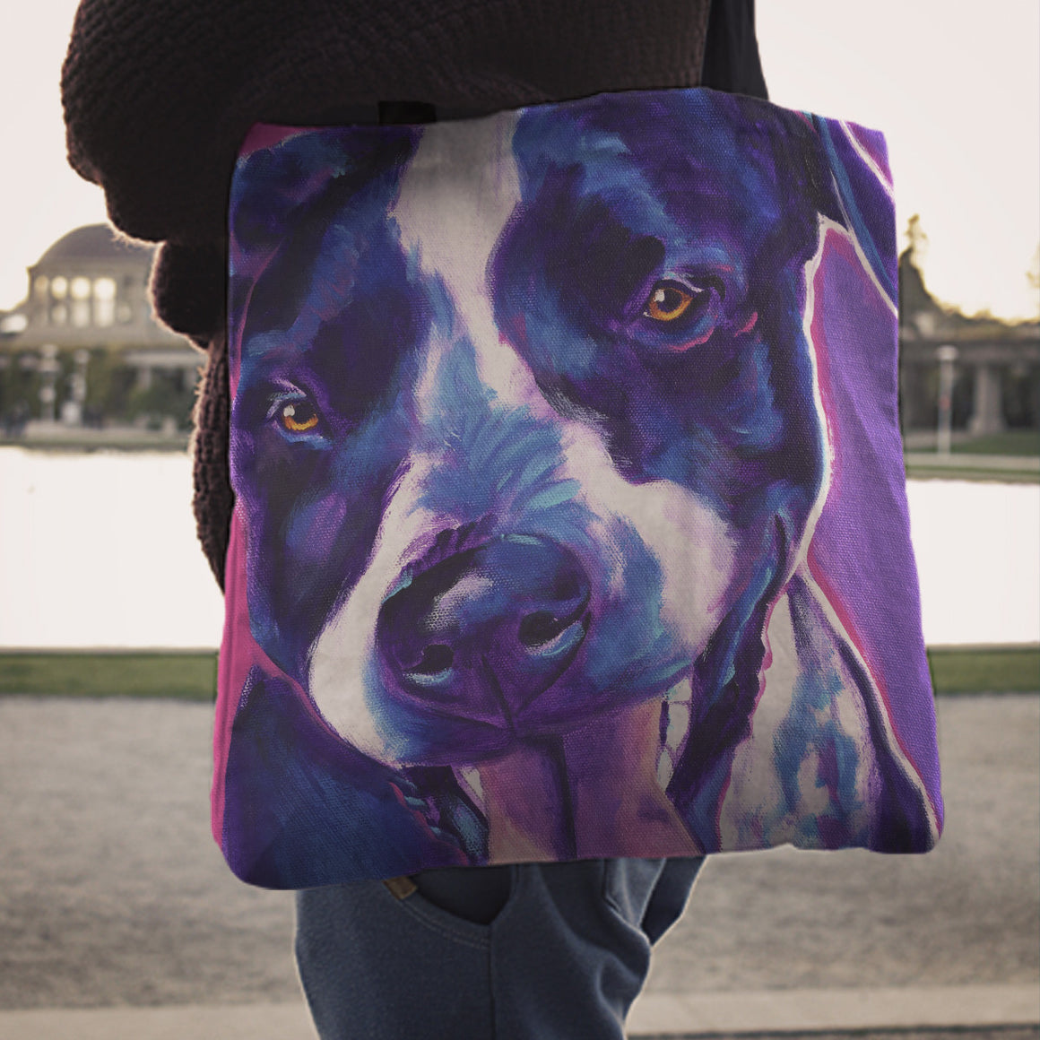German Shorthaired Pointer Linen Totes