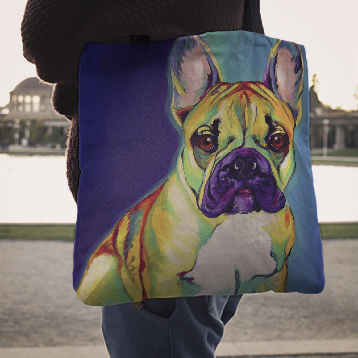 French Bulldog Linen Totes